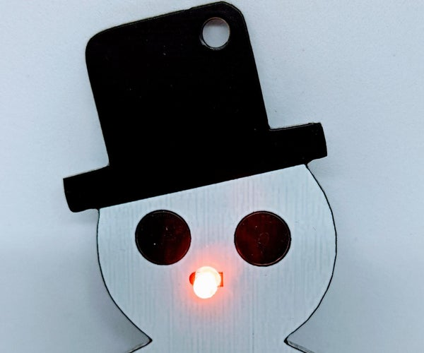 Lighted Snowman Ornament