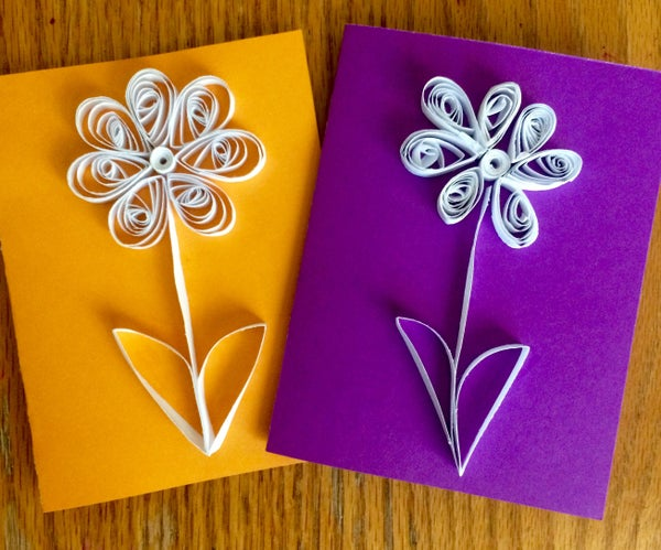 Quilling With Kids- Simple Quilled Flower Card