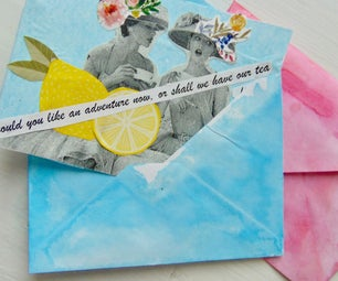 Colourful English Tea Party Invitations and Watercolour Envelopes