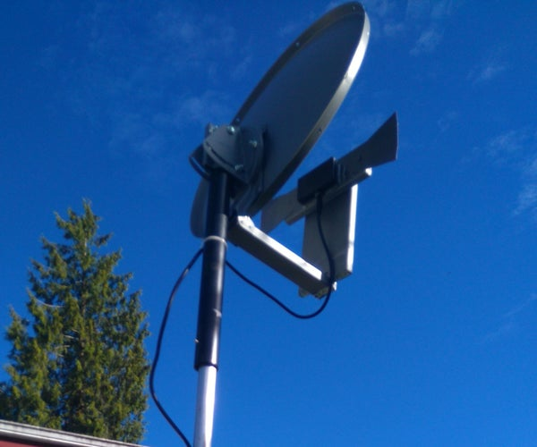 Make a High Performance TV Antenna From a Satellite Dish and a Few Parts