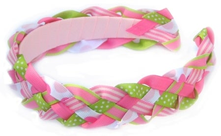 Headband With Braided Stripe Striped Color Middle Knotted Knot Wide Side Gffa