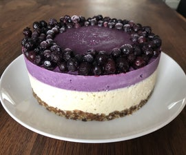Vegan Wild Blueberry Cheesecake