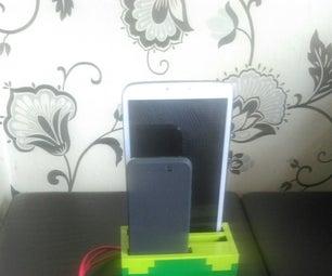 乐高多器件充电码头,手机平板电脑