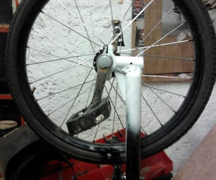 Drift Trike Forks - How I Joined a Huffy Green Machine Wheel to BMX Forks.