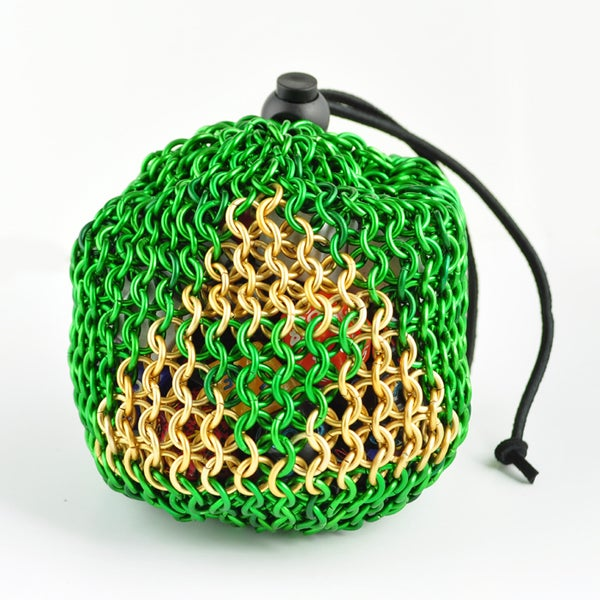Legend of Zelda Triforce Chainmaille Dice Bag