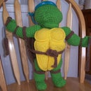 Teenage Mutant Ninja Turtle crochet puppet doll