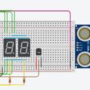 Arduino Distance and Temperature Sensor + 7 Segment Display