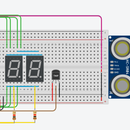 Arduino Distance and Temperature Sensor + 7 Segment Display