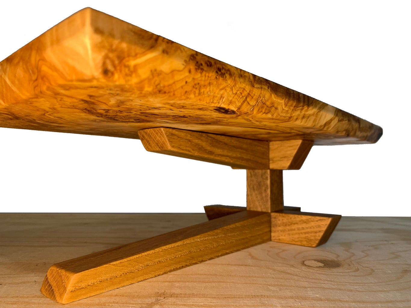 Wood Cake Stand - Hand-cut Japanese Joinery