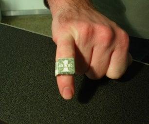 Dollar Bill Ring Bling
