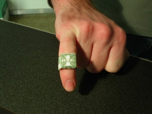 Dollar Bill Ring Bling