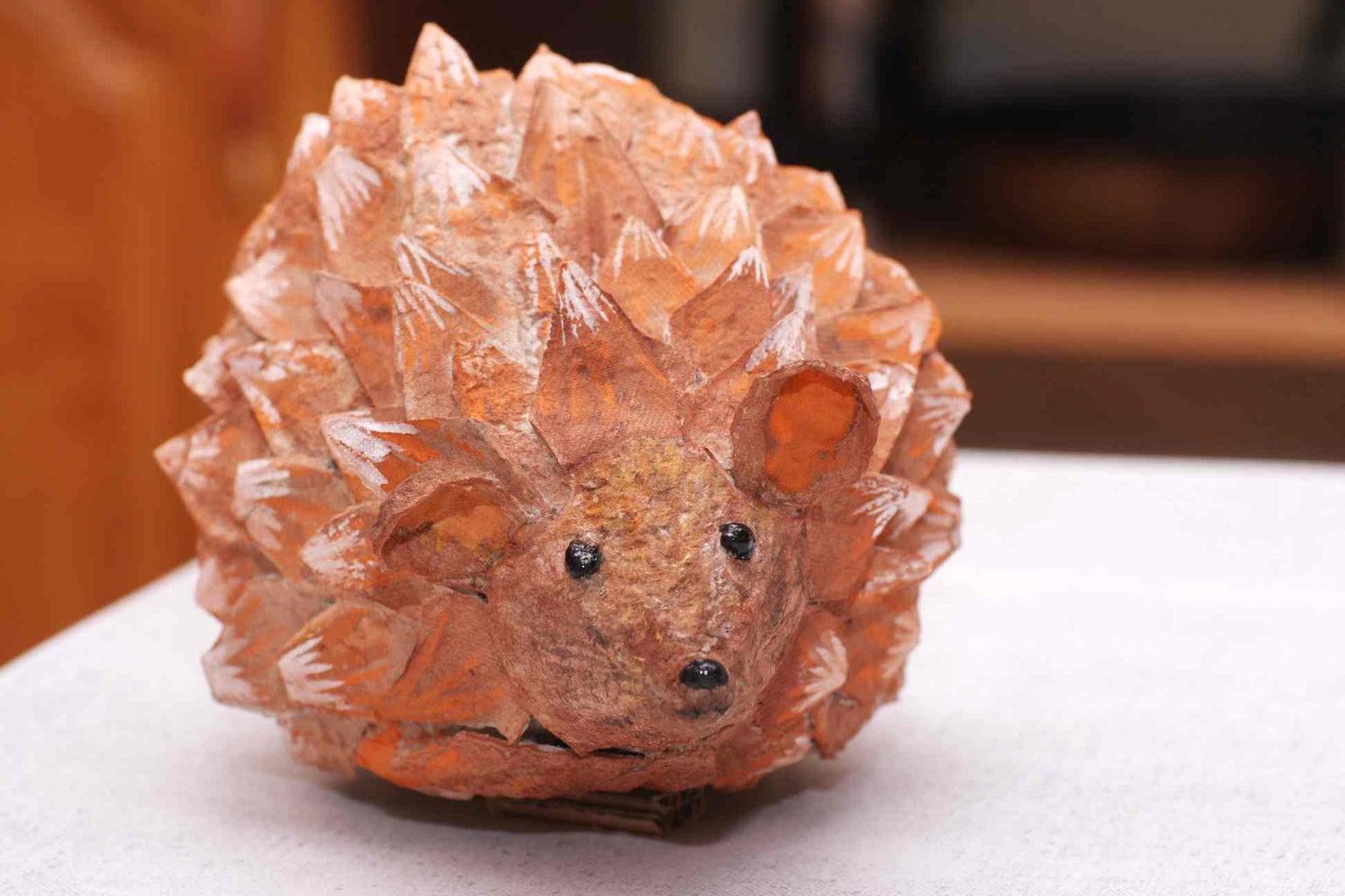 A Hedgehog Made of an Egg Box