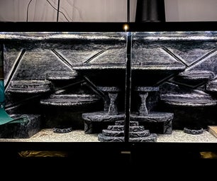 DIY Split Aquarium / Terrarium Background for Reptiles