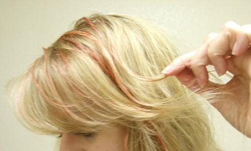 Temporary Hair Highlights/Glitter Streaks