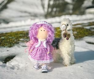 "Cute Textile Doll ""Ivy"""