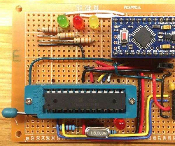 Burn Arduino Bootloader to ATMEGA328P-PU Using Arduino Pro Mini