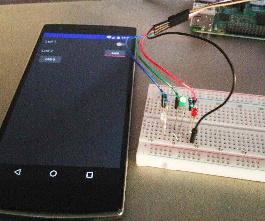 Control Raspberry pi GPIO using an app