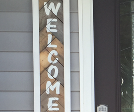 Welcome Sign From Reclaimed Lumber
