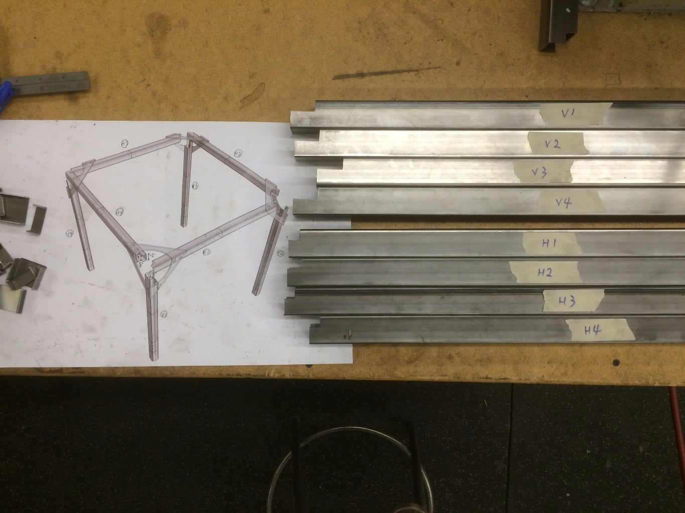 Cut and Mill Interlocking Joints on Steel Tubes