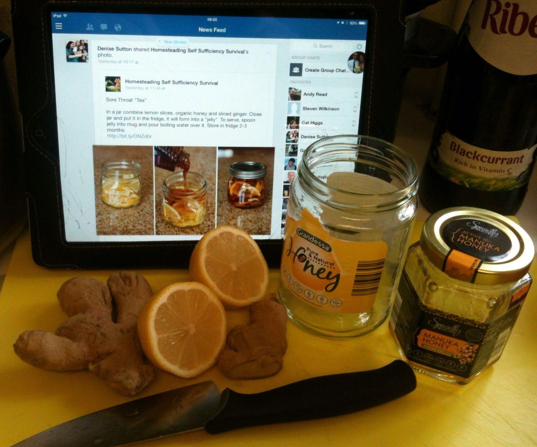 Honey, Lemon & Ginger Tea