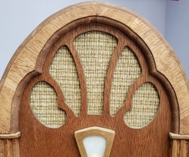 A Replica Wooden Internet Radio