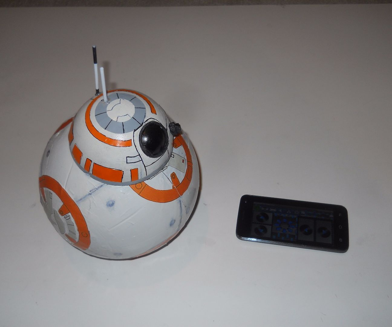 DIY Bluetooth Phone Controlled BB-8 Droid With Arduino UNO