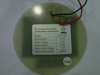 Telemetry With Solar Cell