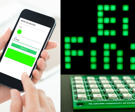 DIY INTERNET CONTROLLED SMART LED MATRIX (ADAFRUIT + ESP8266 + WS2812)