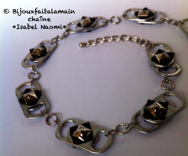 How to Make a Necklace With Soda Can Tabs and Inner Bicycle Tube