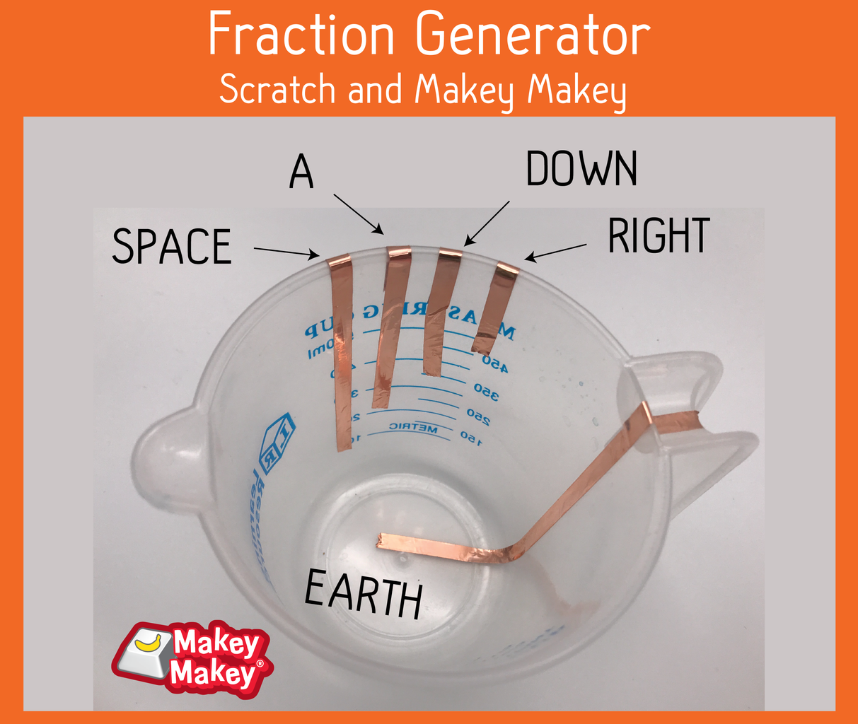 Makey Makey and Scratch Fraction Generator