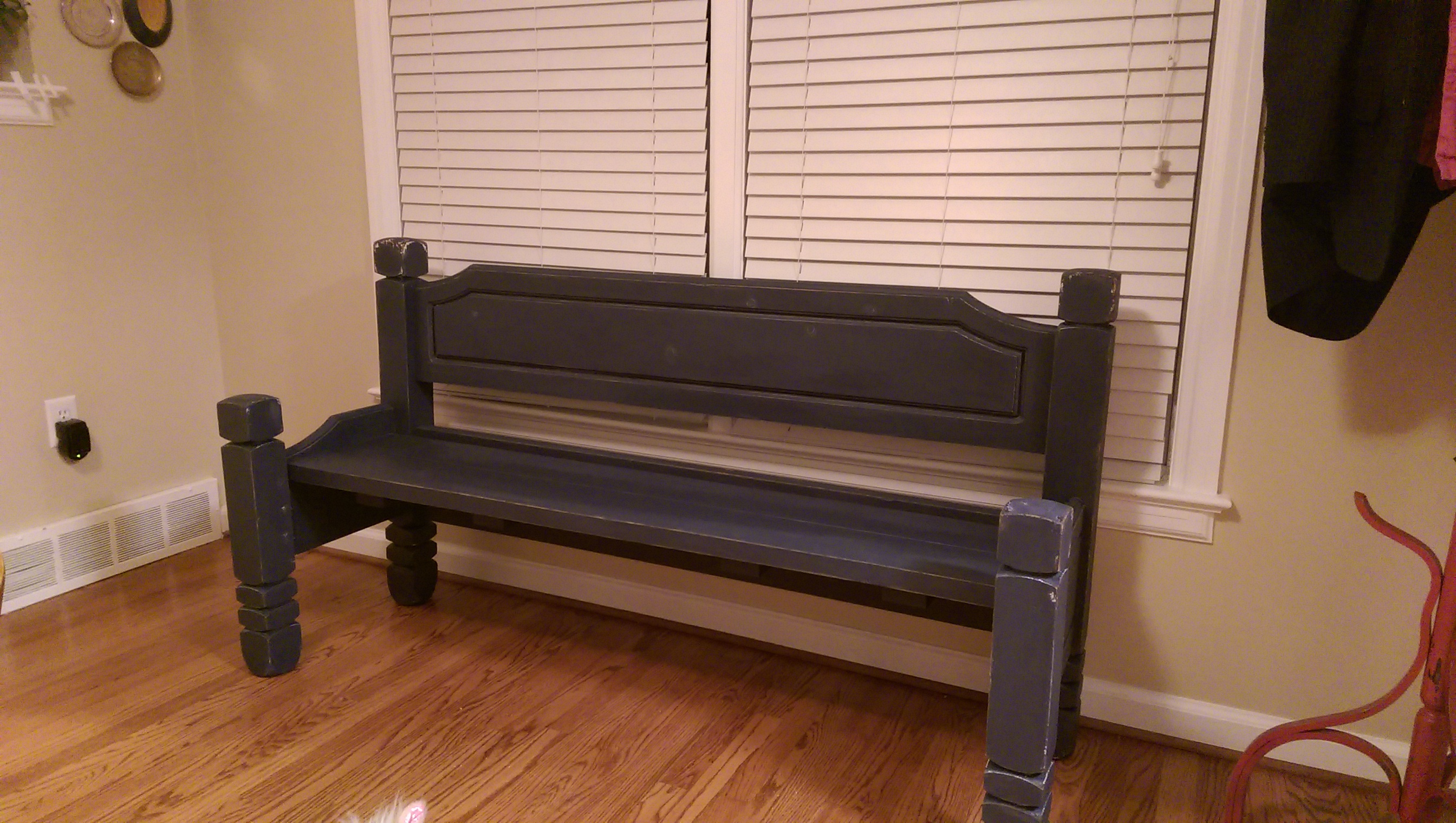 A bench from an old bed