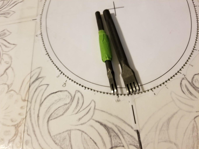 Punching Sewing Holes & Stitching the Brim