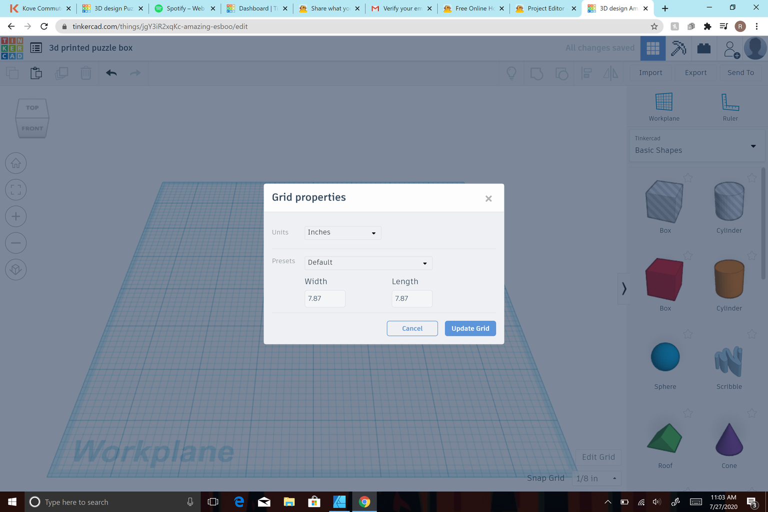 Create Project and Edit Grid