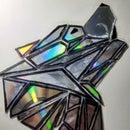Junk CDs to Geometric Wolf D.I.Y
