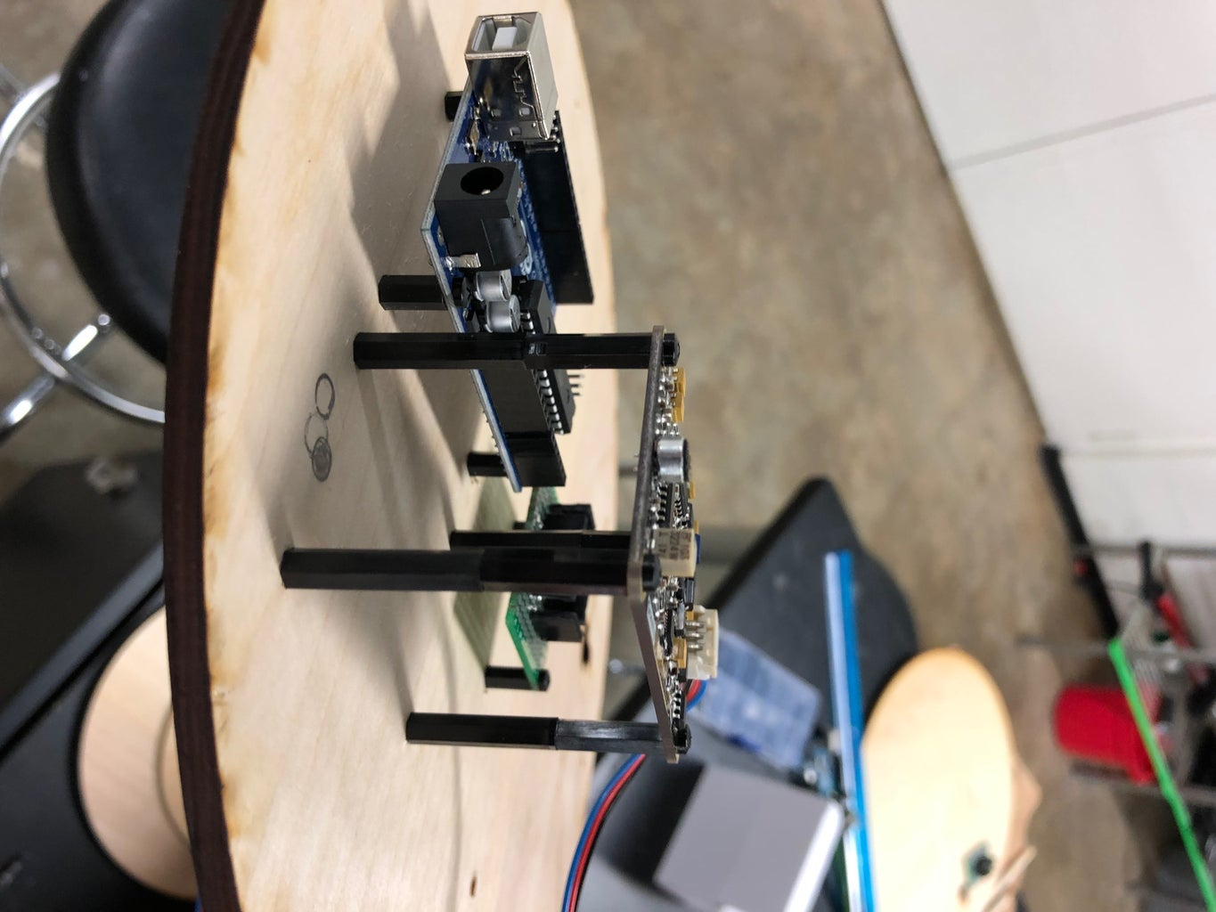Mount the Electronics Boards to the Wood Casing