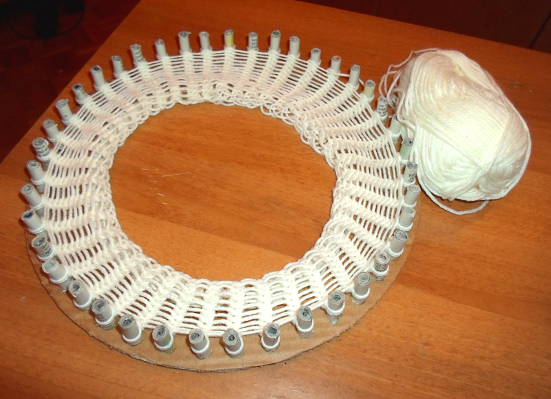 Cardboard Knitting Loom