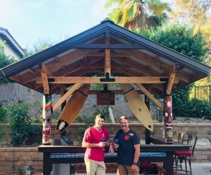 Tiki Bar, Bar-B-Q, and Patio Cover Backyard Project