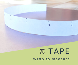 Pi Tape - Easily Measure the Diameter of Anything