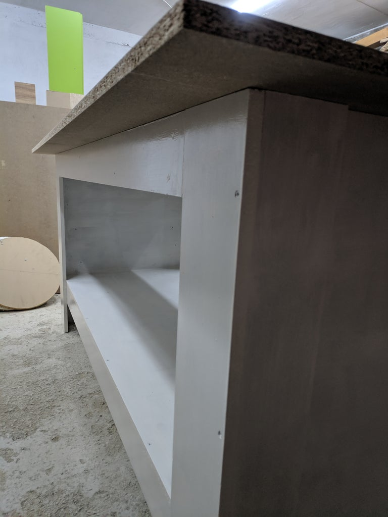 Less Than $50 Particleboard Workbench