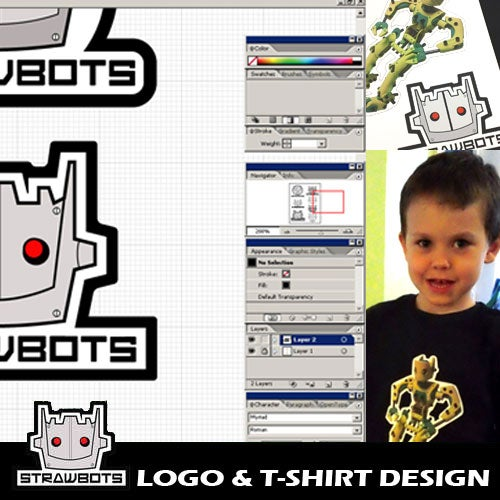 Strawbots: Logo & T-shirt Design