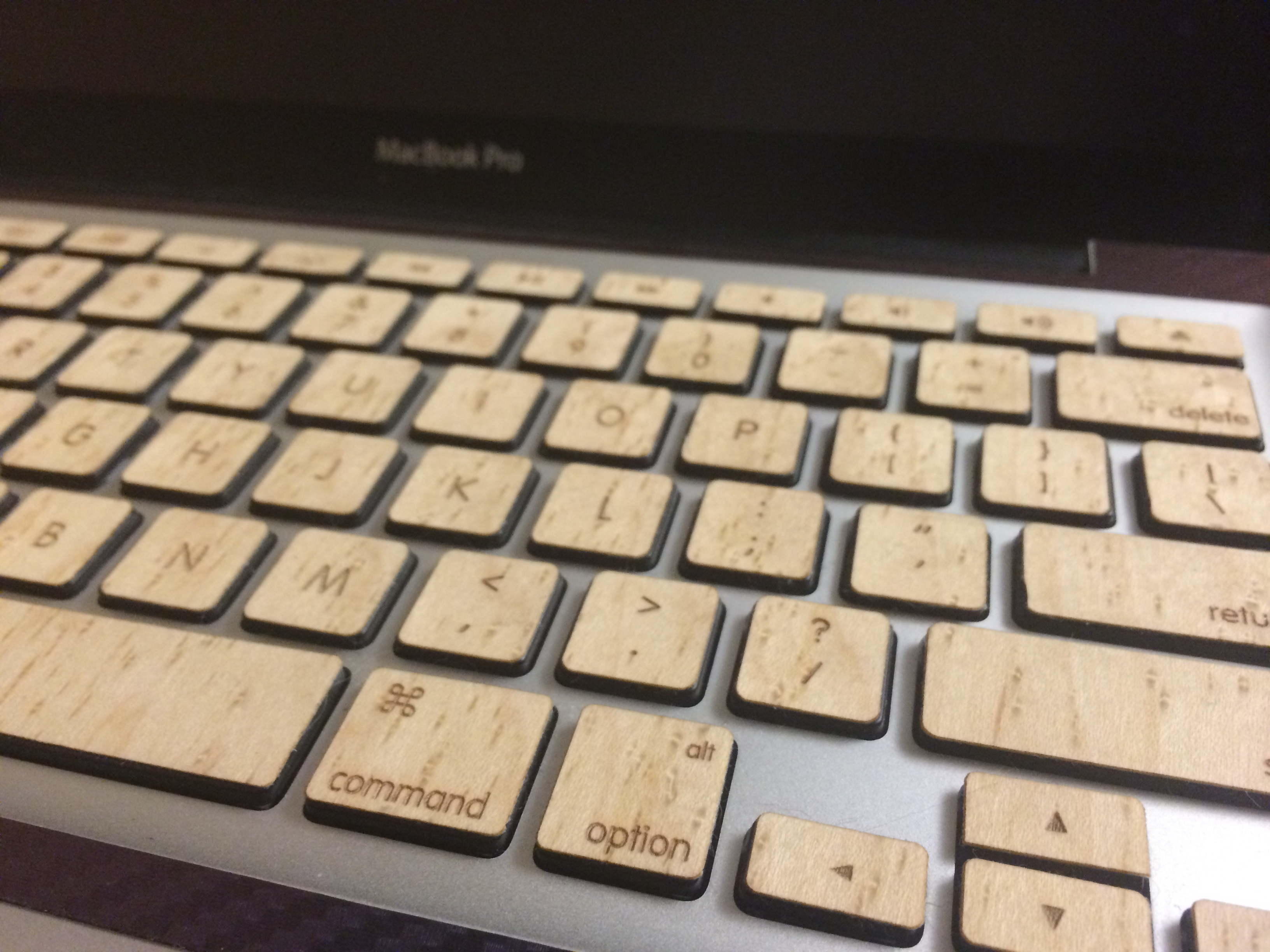 Wooden Macbook Keys (with backlight functionality)