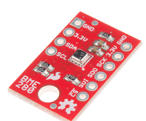 Tweeting Sensor Data With Arduino / RedBoard and SparkFun BME280 and SparkFun ESP8266 Shield