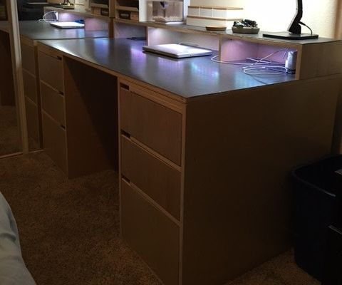 2 sheets of plywood = DESK