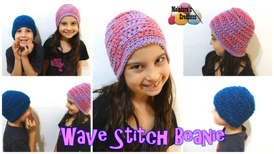 Wave Stitch Beanie – Free Crochet Pattern