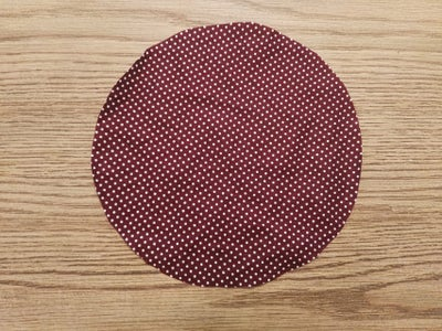 Cut a Circle From Your Fabric of Choice Using a Circular Object Like a Bowl.