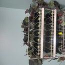 Paint Rack Repurposed to Wine Rack