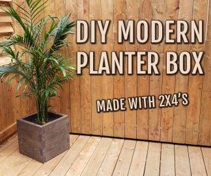 DIY现代花盆盒/2x4