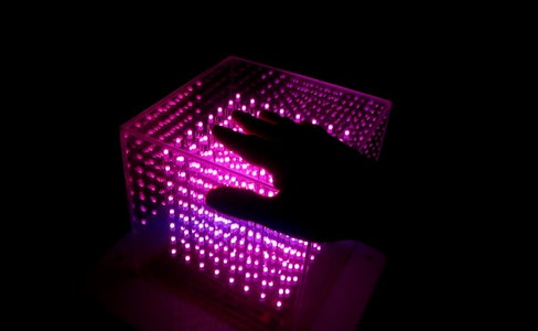 Interactive Color-wheel RGB Cube 8x8x8