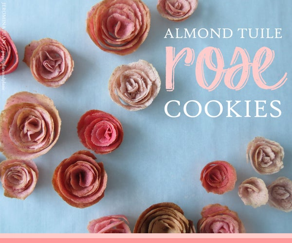 Almond Tuile Cookie Roses