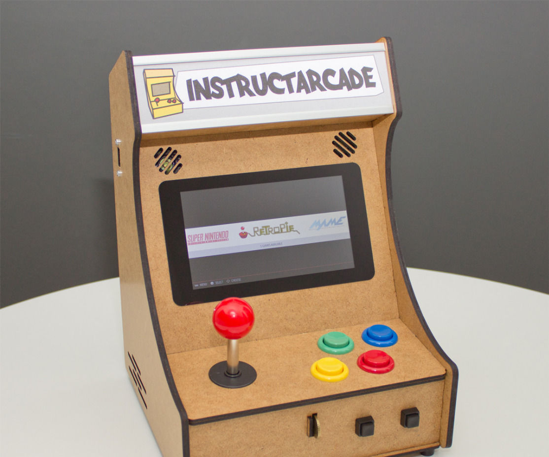 Mini Pi-Powered Arcade Machine